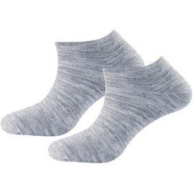 Devold Daily Shorty Socks Women 2-Pack Grey Melange